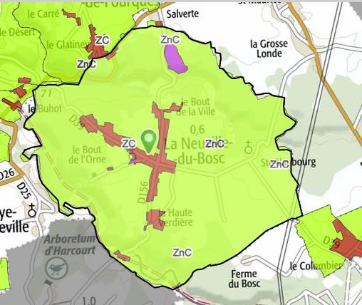 carte communale de la Neuville du Bosc