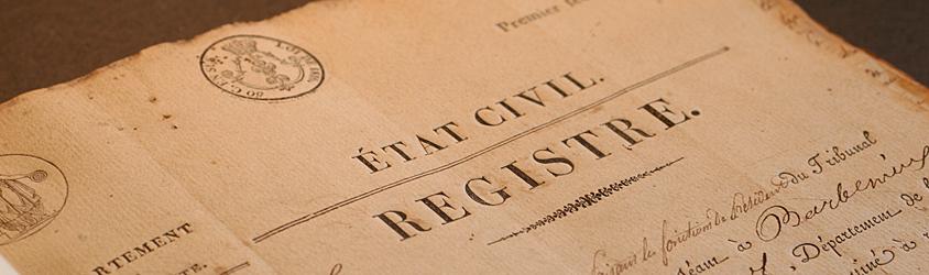 registre état civil